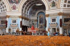 Interior of  St. Mary christianity church. At Mosta.   Malta Royalty Free Stock Image
