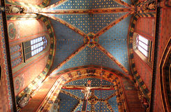 Interior of St. Mary's Basilica stock photo