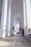 Interior of St. Mary's Basilica in Gdansk Royalty Free Stock Images