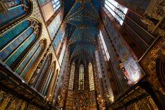 Interior of St. Mary's Basilica Royalty Free Stock Photos