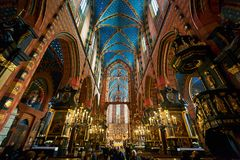 Interior of St. Mary's Basilica Stock Photography