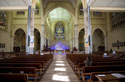 Interior of St Mary`s Cathedral, Perth City Royalty Free Stock Images