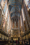 Interior of St Mary's church in Krakow Stock Photos