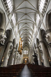 Interior of St. Michael Cathedral - Brussels. Interior of St. Michael and St. Gudula Cathedral - Brussels, Belgium Royalty Free Stock Photography