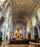 Interior of St Michael church in Munich Royalty Free Stock Photos
