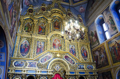Interior of St. Michael's Cathedral in Kiev Royalty Free Stock Photography