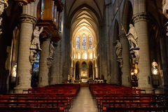 Interior of St. Michael and St. Gudula Cathedral Royalty Free Stock Photography