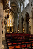 Interior of St. Michael and St. Gudula Cathedral Royalty Free Stock Images