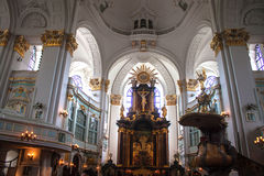 Interior of St. Michaelis church Royalty Free Stock Image