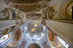 Interior of St. Nicholas Church,Prague,Bohemia Stock Photo