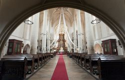 Interior of St. Nicholas Church, Znojmo Royalty Free Stock Image