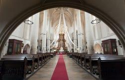 Interior of St. Nicholas Church, Znojmo Royalty Free Stock Image