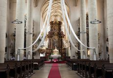 Interior of St. Nicholas Church, Znojmo Royalty Free Stock Photo