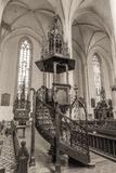 Interior of St. Nicolas in Cheb in the czech republic Royalty Free Stock Photography