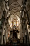 Interior of St Nicolas Church in Ghent, Belgium Stock Photos