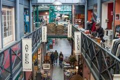 Interior of the St-Ouen flea market in Paris Royalty Free Stock Photos