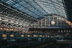 Interior of St. Pancras International Station, London, UK. royalty free stock image