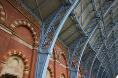 Interior of St Pancras Station In London, England - Image - 5 May 2019 stock photos