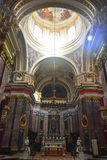 Interior of St Pauls Cathedral in Mdina, Malta. Stock Photo