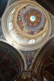 Interior of St Pauls Cathedral in Mdina, Malta. Royalty Free Stock Photos