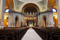 Interior of St Pauls Cathedral. St Paul Minnesota stock photos