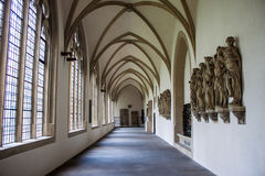 Interior of St. Paulus cathedral in Muenster Stock Photography