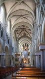 Interior of St. Peter and Paul church in Bern Stock Image
