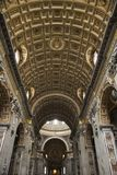 Interior of St. Peter's Basilica in Rome. Stock Images