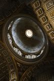 Interior of St. Peter's Basilica in Rome. Royalty Free Stock Photos