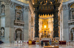 Interior of St. Peter's Basilica in Rome Royalty Free Stock Image