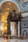 Interior of St. Peter's Basilica in Rome Stock Photo