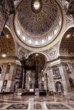 Interior of St. Peter's Basilica in Rome Stock Images