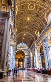 Interior of the St Peter's Basilica. Royalty Free Stock Photo