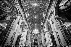 Interior of St. Peter's Basilica, Vatican, Rome. Stock Image