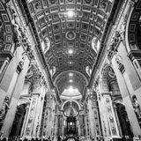 Interior of St. Peter's Basilica, Vatican, Rome. Stock Images