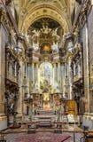 Interior of St. Peter's Church, a Baroque Roman Catholic parish stock photos