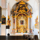 Interior of St. Peter's Church (Munich) Stock Images