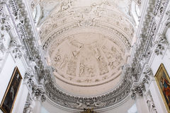 Interior of St. Peter and St. Paul Church in Vilnius Stock Image