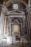 Interior of the St. Peters Basilica in Rome Stock Photography