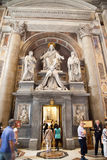 Interior of the St. Peters Basilica in Rome stock photos