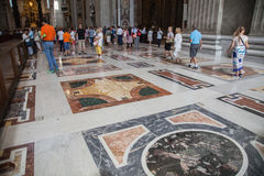 Interior of the St. Peters Basilica in Rome royalty free stock photos