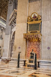Interior of the St. Peters Basilica in Rome royalty free stock images