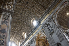 Interior of St. Peters Basilica, Vatican Stock Images