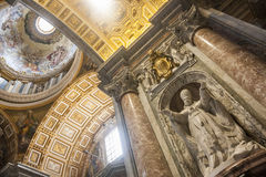 Interior of St. Peters Basilica, Vatican Stock Photography