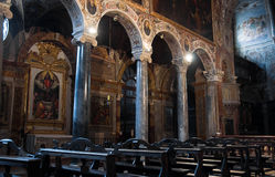 Interior St. Pietro Basilica. Perugia. Umbria. Royalty Free Stock Photo