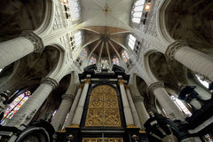 Interior of St. Rumbold's Cathedral in Mechelen Royalty Free Stock Images