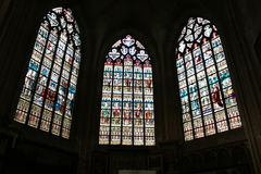 Interior of St. Salvator's Cathedral, Bruges, Belgium. Stock Images