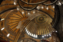 Interior of St. Sophia Cathedral in IStambul royalty free stock photography