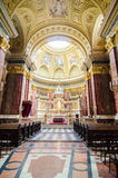 Interior of the St. Stephen Basilica stock photography