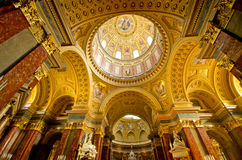 Interior of St Stephen's Basilica in Budapest, Hungary Stock Image